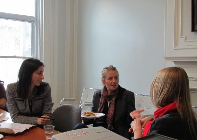 Linda Morra, Mél Hogan and Catherine Hobbs in conversation at 'archive+feminism'.