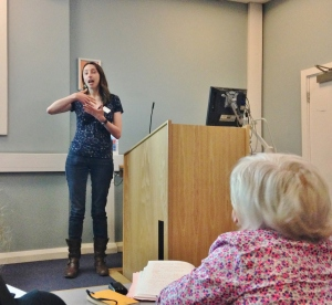 Katherine Curran presenting, 'Does the British Library Need a Nose?'