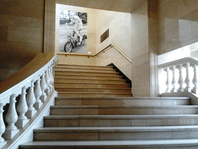 Mitchell library stairs twiggy