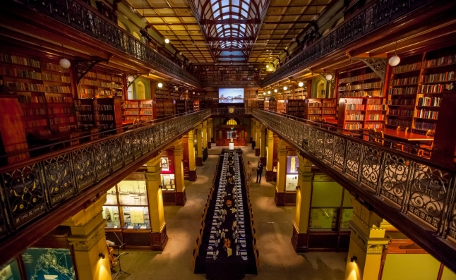 Dinner-set-up-the-Mortlock-Chamber-State-Library-of-South-Australia